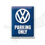 "Blechschild ""VW Parking only"" 30*40cm"