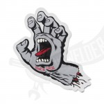 Aufkleber Santa Cruz Screaming Hand silber