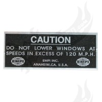 "Aufkleber EMPI ""Do not lower windows..."" 95mm x 38mm"