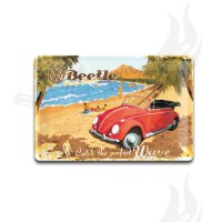 "Blechschild ""VW Käfer - Ready for the Beach"" 20*30cm"