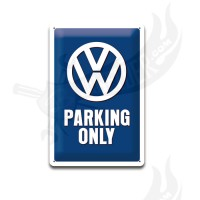 "Blechschild ""VW Parking only"" 20*30cm"
