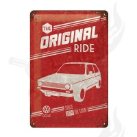 "Blechschild ""VW Golf - The Original Ride"" 20*30cm"