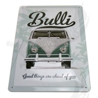 "Blechschild ""VW Bulli -Good things are ahead of you"" 20*30cm"