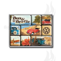 "Magnet Set 9-teilig ""VW Beach"""