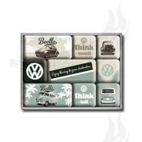"Magnet Set 9-teilig ""VW Think Tall & Small"""